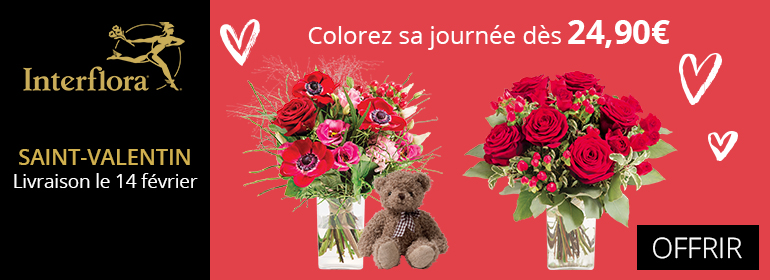 interflora saint-valentin 2018